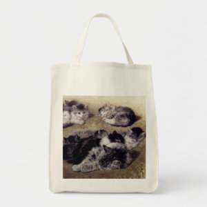 Vintage Ronner Study Painting of Cats Tote bag
