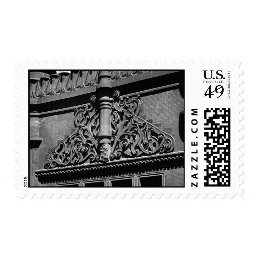 Vintage Rookery Detail Chicago Postage Stamp