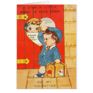 Vintage Room in Your Heart Valentine Card