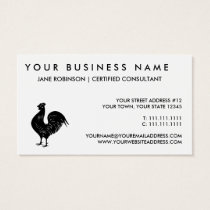 Vintage Rooster Business Card