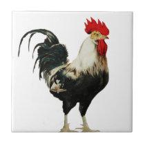 Vintage Rooster Chicken Customize Animal best Ceramic Tile