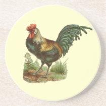 Vintage Rooster Coaster