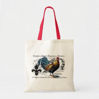 Vintage Rooster Collage Budget Tote Bag