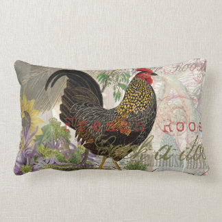 Vintage Rooster French Collage Pillows