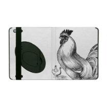 Vintage rooster illustration iPad case