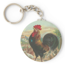 Vintage Rooster Keychain
