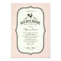 Vintage Rooster Kitchen Shower Invitations