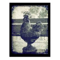 Vintage Rooster of Glass Postcard