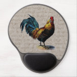 Vintage Rooster on Antique Parchment - Roosters Gel Mousepad