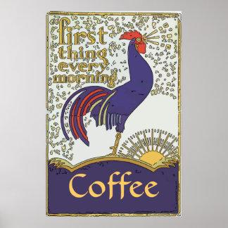 Vintage Rooster Poster, edit text Poster