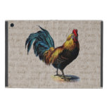 Vintage Rooster Retro Chicken Antique Text Birds iPad Mini Cover