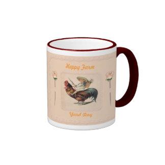 Vintage Rooster Ride 2 Ringer Coffee Mug