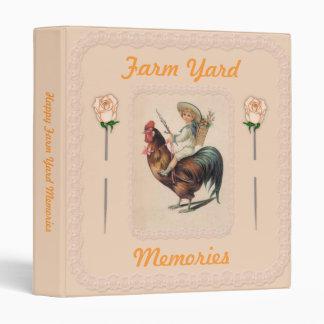 Vintage Rooster Ride 2 Vinyl Binder