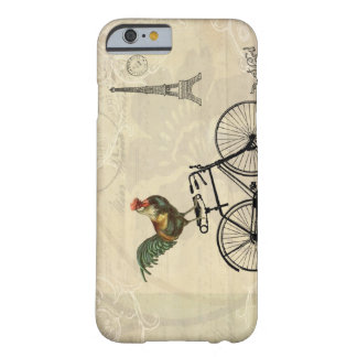 Vintage Rooster Riding a Bike by the Eiffel Tower Barely There iPhone 6 Case
