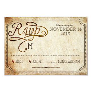 Vintage Rooster Rustic Country RSVP Card