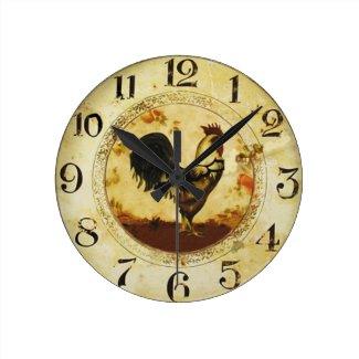 Vintage Rooster Wallclock