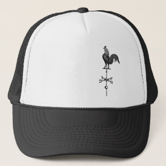 Vintage Rooster Weather Vane Trucker Hat