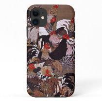 Vintage Roosters Art iPhone 11 Case