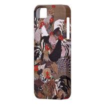 Vintage Roosters Art iPhone SE/5/5s Case