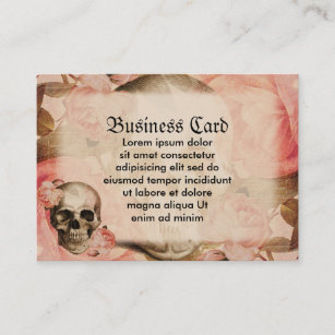 Collage business cards zazzle vintage rosa skull collage business card colourmoves