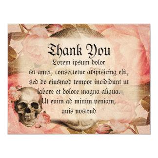 Vintage Rosa Skull Collage Card