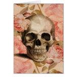 Vintage Rosa Skull Collage Greeting Card