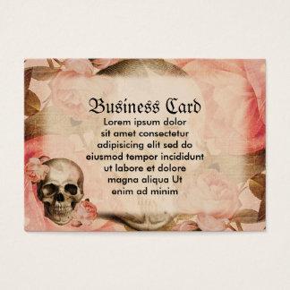 Vintage Rosa Skull Collage Large Business Card