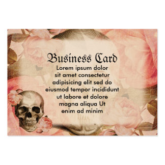 Vintage Rosa Skull Collage Large Business Cards (Pack Of 100)