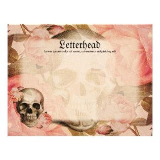 Vintage Rosa Skull Collage Letterhead