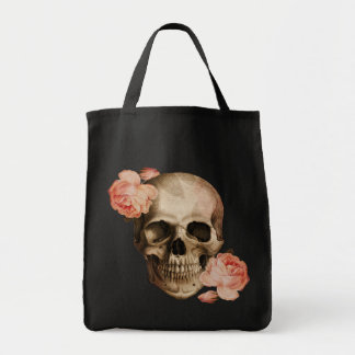 Vintage Rosa Skull Collage Tote Bag