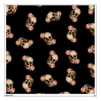 Vintage Rosa Skull Collage Wall Sticker