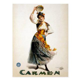 "Vintage Rosabel Morrison ""Carmen"" Theater Postcard"