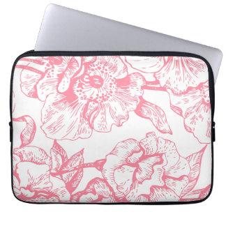 """Vintage rosado 13"""" floral manga del ordenador fundas ordendadores"""