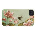 Vintage rosado de las azaleas en la niebla verde Case-Mate iPhone 4 carcasa