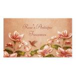 Vintage rosado de las azaleas floral en el whisky  plantillas de tarjetas personales