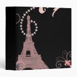 vintage rosado elegante femenino de París de la to
