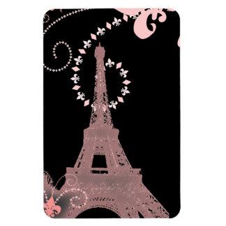 vintage rosado elegante femenino de París de la to Imán Rectangular