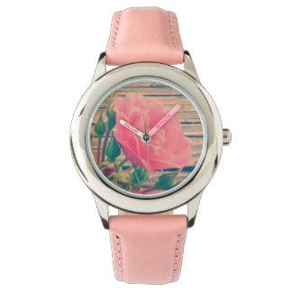 Vintage rosado romántico subió relojes