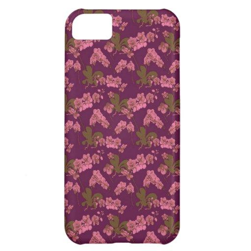 Vintage rosado y púrpura floral