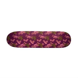 Vintage rosado y púrpura floral monopatines personalizados
