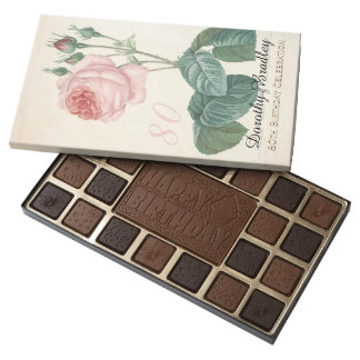 Vintage Rose 80th Birthday Celebration - Assorted Chocolates