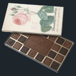 """Vintage Rose 85th Birthday Celebration - Assorted Chocolates<br><div class=""""desc"""">Customizable Birthday Celebration Box of Chocolate with Vintage Botanical Watercolors by Pierre-Joseph Redouté. You can easily change text color, font, size and position by clicking the customize button. """"Pierre-Joseph Redouté (10 July 1759 in Saint-Hubert, Belgium – 19 June 1840 in Paris), was a Belgian painter and botanist, known for his...</div>"""