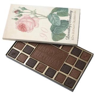 Vintage Rose 90th Birthday Celebration - 45 Piece Box Of Chocolates