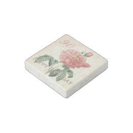 Vintage Rose 90th Birthday Stone Magnet