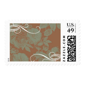 Vintage Rose A by Ceci New York Postage Stamp