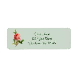 Vintage Rose Address Label