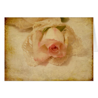 Vintage Rose And Lace Greeting Card