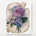Vintage Rose and Lily of the Valley Mouse Pad