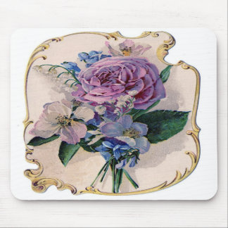 Vintage Rose and Lily of the Valley Mouse Pads