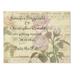 Vintage Rose and music score wedding set Invitations